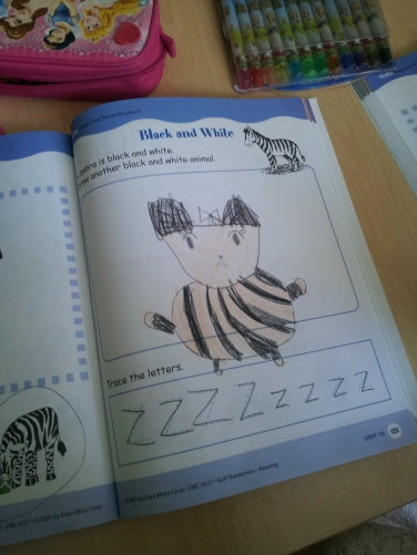 Sarah's striped panda